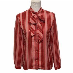 Vintage 1980 Tie Neck Blouse